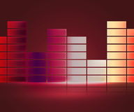 Red Equalizer Music Background Stock Photos