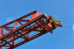 Red erection truss Royalty Free Stock Photo