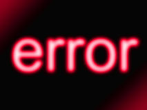 Red error Stock Photos