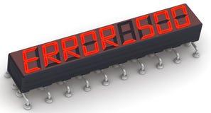 Red ERROR 500 message (Internal server error) Stock Photos