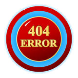 404 error symbol Royalty Free Stock Photography