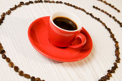 Red espresso coffee Royalty Free Stock Images