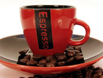 Red Espresso cup 2 Royalty Free Stock Image