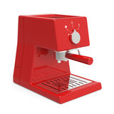Red espresso machine Stock Photography