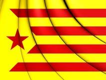 Red Estelada Flag, Catalonia. Stock Photography