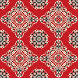 Red ethnic abstract seamless vector pattern Royalty Free Stock Photos
