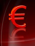 Red euro Royalty Free Stock Photo