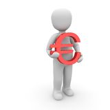 Red euro Stock Photography