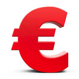 Red euro sign Royalty Free Stock Photo