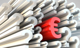 Red Euro symbol Stock Photo