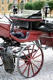 Red european tourist cart carriage Stock Image