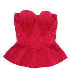Red evening top, lace elegant corset Royalty Free Stock Photos