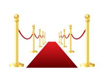 Red event carpet isolated on a white background Stock Photo