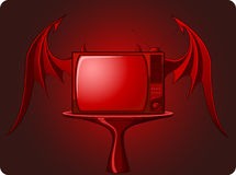 Red Evil retro TV Stock Images