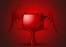 Red Evil retro TV Royalty Free Stock Images