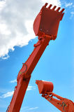 Red excavator scoops Royalty Free Stock Photos