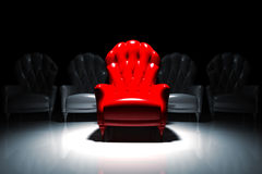 Red exclusive armchair Royalty Free Stock Photography