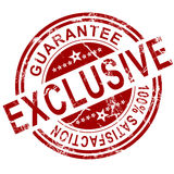Red exclusive stamp Royalty Free Stock Photos