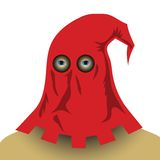 Red executioner mask. Colorful illustration with red executioner mask for your design Royalty Free Stock Photos