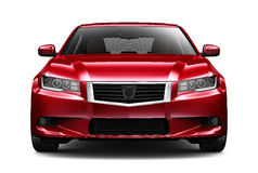 Red executive car - front view Stock Photo