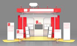 Red Exhibit Display Case Design Royalty Free Stock Image