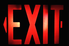 Red Exit Sign Royalty Free Stock Photo