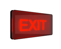 Red exit sign Stock Photo