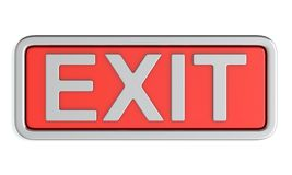 Red exit sign Royalty Free Stock Image