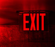 Red exit sign Royalty Free Stock Photography