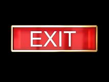 Red exit sign Royalty Free Stock Photos