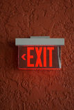 Red exit sign. Royalty Free Stock Photo