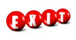 Red exit spheres Stock Photography