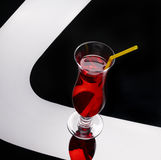 Red exotic cocktail Stock Images