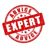 Red expert advice vector stamp Royalty Free Stock Image