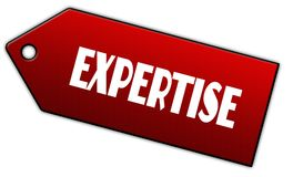Red EXPERTISE label. Royalty Free Stock Photos