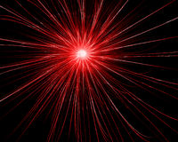 Red explosion. Digitally generated image - red explosion Stock Photos