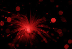 Red explosion Royalty Free Stock Photo