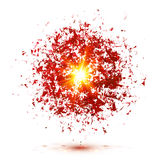 Red explosion isolated on white background Royalty Free Stock Photo