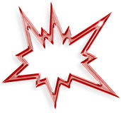 Red explosive star Stock Photography