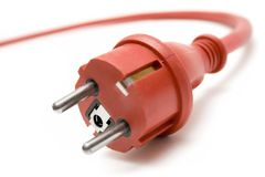 Red Extension Plug Stock Images