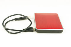 Red external hard drive Royalty Free Stock Photography