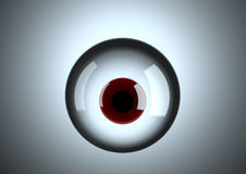 Red Eye. Horrible red eye hanging in the air Royalty Free Stock Photos