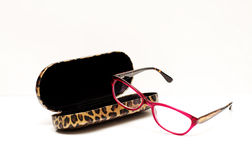 Red Eye Glasses and Case Stock Image