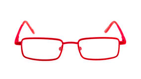 Red eye glasses Stock Image