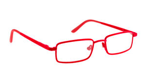 Red eye glasses Royalty Free Stock Images