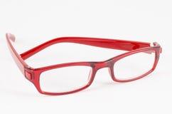 Red eye glasses. On white background stock photos