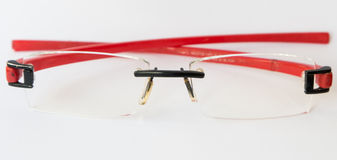 Red eye glasses Stock Images