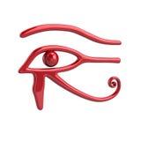 Red Eye of Ra symbol. 3d illustration of red Eye of Ra symbol isolated on white background Royalty Free Stock Photo