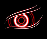 Red eye technology abstract background Royalty Free Stock Photos