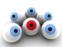Red eyeball Royalty Free Stock Photo